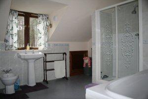 The Annexe Bathroom at The Retreat bandb at Wareham in Dorset